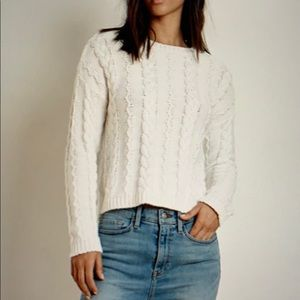 Velvet by Graham and Spencer cable sweater